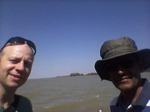 With Dr Matthew at Lake Tana