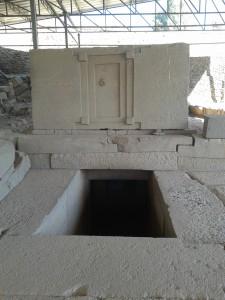 Tomb at stelae field